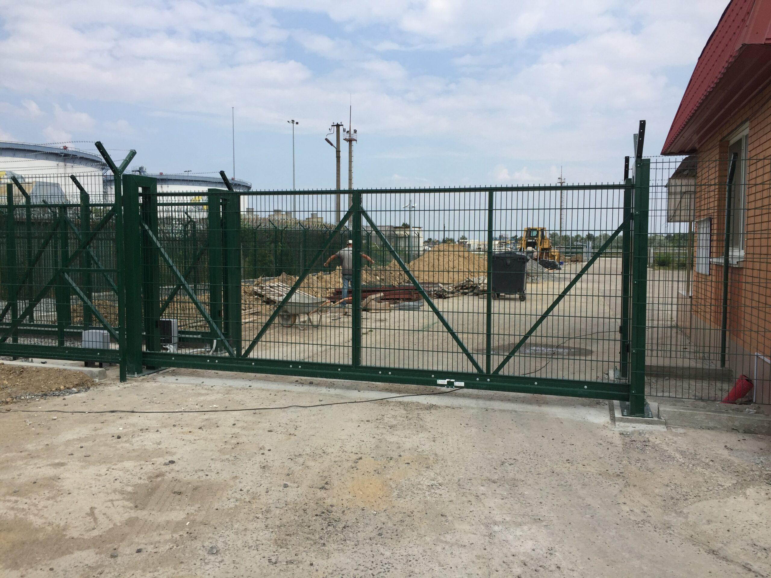 Откатные-консольные ворота